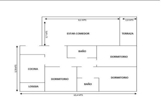 COD 35 Departamento en venta, Providencia.